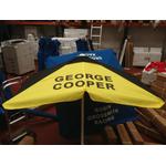 George Cooper Rails Bookmakers Square Black / Yellow Racecourse Umbrella ... www.DiscountTillRolls.ie