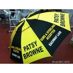 Patsy Brown Bookmakers Black / Yellow Racecourse Umbrella ... www.DiscountTillRolls.ie